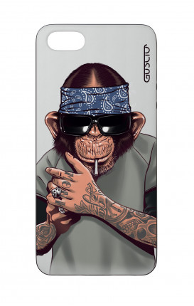 Apple iPhone 5 WHT Two-Component Cover - Chimp with bandana