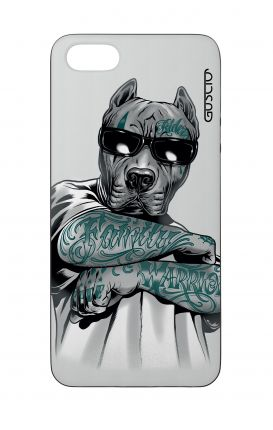 Cover Bicomponente Apple iPhone 5/5s/SE  - Pitbull tatuato