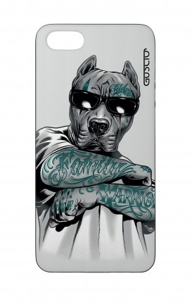 Apple iPhone 5 WHT Two-Component Cover - Tattooed Pitbull