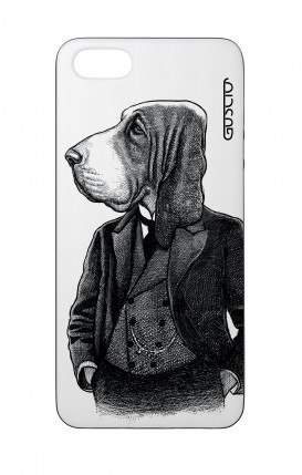 Apple iPhone 5 WHT Two-Component Cover - Dog in waistcoat