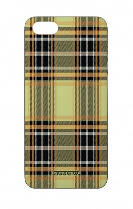 Apple iPhone 5 WHT Two-Component Cover - Yellow tartan