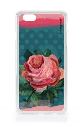 Cover Apple iPhone 6/6s plus - Rosa e pois blu