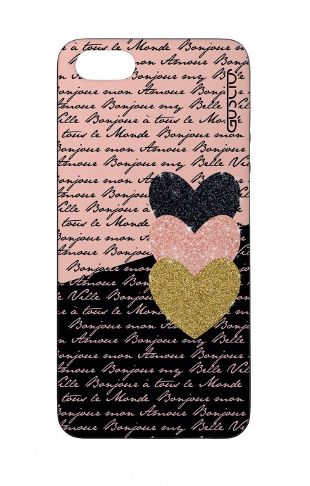 Apple iPhone 5 WHT Two-Component Cover - Hearts on words