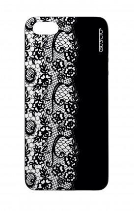 Cover Bicomponente Apple iPhone 5/5s/SE - Pizzo bianco e nero