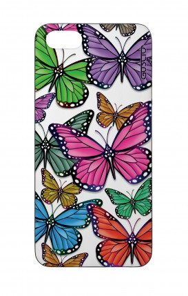 Cover Bicomponente Apple iPhone 5/5s/SE - Farfalle colorate Pattern