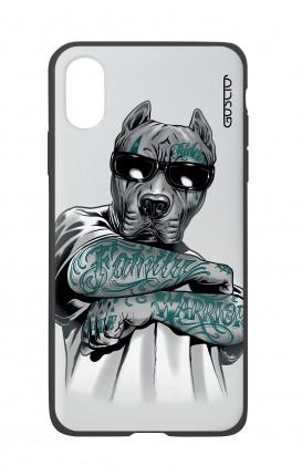 Cover Bicomponente Apple iPhone X/XS  - Pitbull tatuato