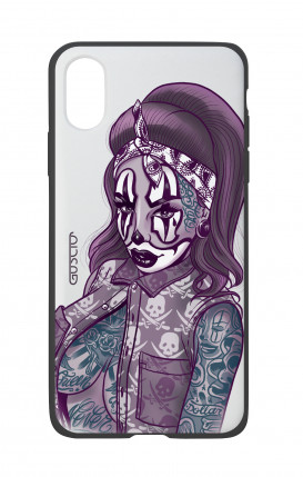 Cover Bicomponente Apple iPhone X/XS - Pin Up Clown Chicana