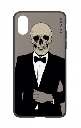 Apple iPhone X White Two-Component Cover - Tuxedo Skull