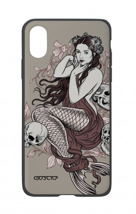 Apple iPhone X White Two-Component Cover - Mermaid with skulls