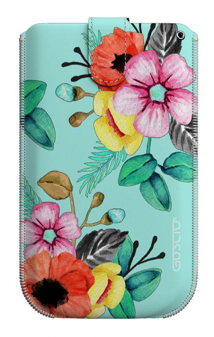 Cover Pouch Size XL - Bouquet azzurro