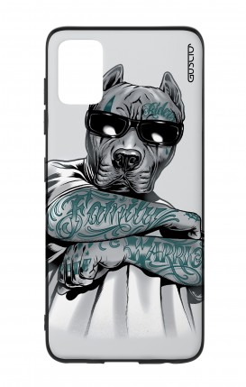 Cover Bicomponente Samsung A51 - Pitbull tatuato
