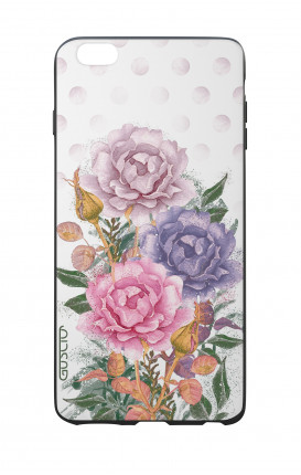 Cover Bicomponente Apple iPhone 6 Plus - Bouquet e pois bianco