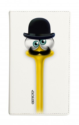 """Cover Universal Casebook MEDIUM for 4.7""""-5.1'' display - Yelloneck Moustache"""