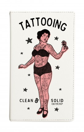 """Cover Universal Casebook MEDIUM for 4.7""""-5.1'' display - Lady Tattooing"""