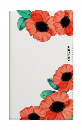 "Cover Universal Casebook MEDIUM for 4.7""-5.1'' display - Tulipani trasperenti"