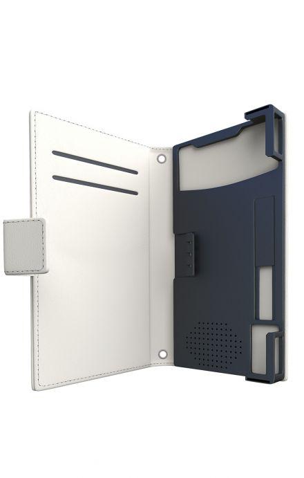 "Cover Universal Casebook MEDIUM for 4.7""-5.1'' display - Signora con borsetta"