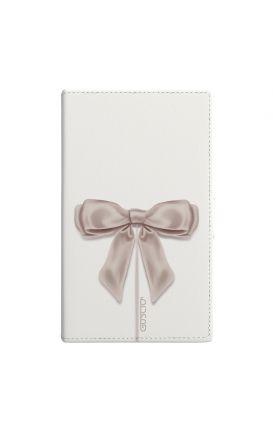 """Cover Universal Casebook MEDIUM for 4.7""""-5.1'' display - Fiocco di raso bianco"""