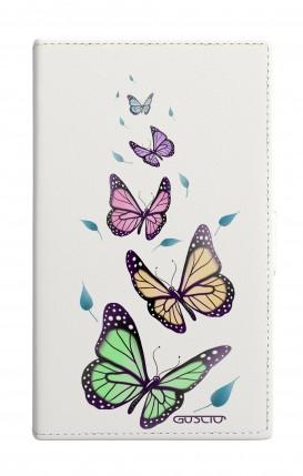 "Cover Universal Casebook MEDIUM for 4.7""-5.1'' display - Farfalle e foglie"