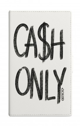 """Cover Universal Casebook MEDIUM for 4.7""""-5.1'' display - Cash Only bianco"""
