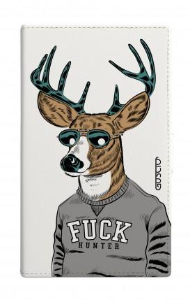 "Cover Universal Casebook MEDIUM for 4.7""-5.1'' display - Fuck Hunter bianco"
