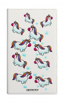 "Cover Universal Casebook MEDIUM for 4.7""-5.1'' display - BNC pioggia di unicorni"