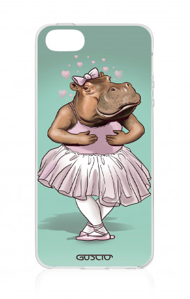 Cover TPU Apple iPhone 5/5s/SE - Ippopotamo ballerina