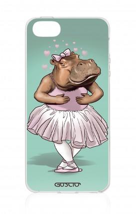 Cover Apple iPhone 5/5s/SE - Ippopotamo ballerina
