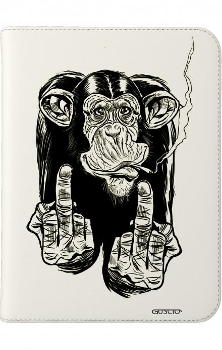 """Cover Universal Tablet Case per 7/8"""" display - Scimmia che fuma"""