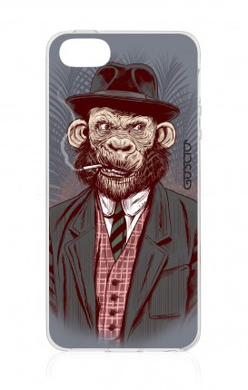 Cover TPU Apple iPhone 5/5s/SE - Scimmia gentiluomo