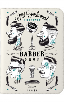 """Cover Universal Tablet Case for 7-8"""" - Barber Print"""