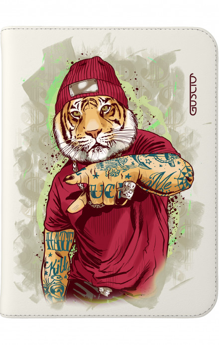 "Cover Universal Tablet Case per 7/8"" display - Tigre Hip Hop bianco"