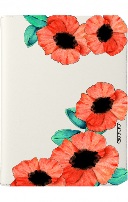"Cover Universal Tablet Case per 7/8"" display - Tulipani trasperenti"