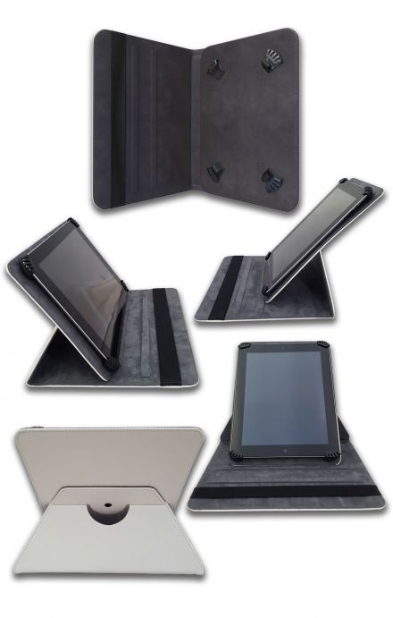 """Cover Universal Tablet Case per 7/8"""" display - Punte bianco"""