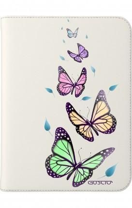 "Cover Universal Tablet Case per 7/8"" display - Farfalle e foglie"