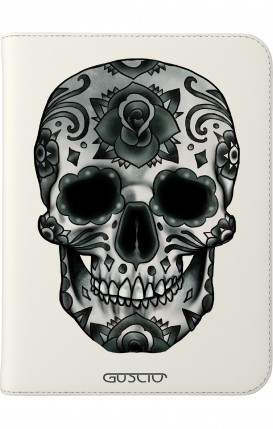 "Cover Universal Tablet Case per 7/8"" display - Teschio calavera scuro"