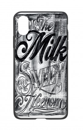 Cover Bicomponente Apple iPhone X/XS - Graffiti in bianco e nero
