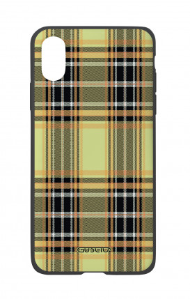 Apple iPhone X White Two-Component Cover - Yellow tartan