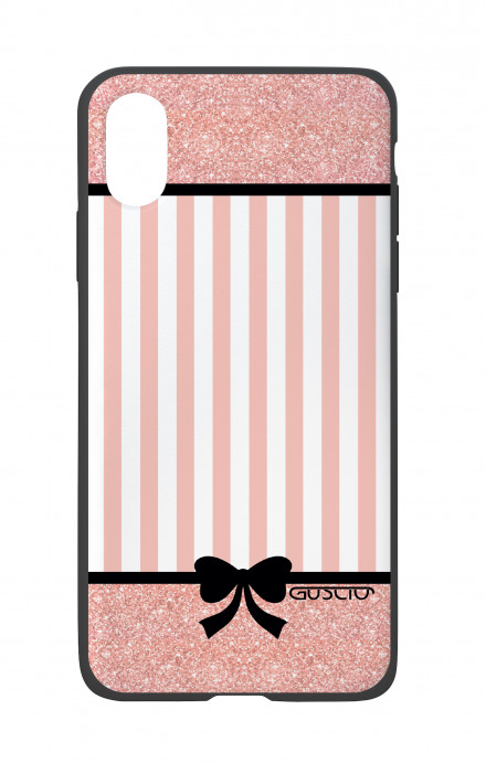 Apple iPhone X White Two-Component Cover - Romantic pink