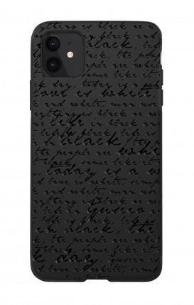 Case Skin Feeling Apple iphone 11 BLACK - Nome Fiocco max 13 caratteri