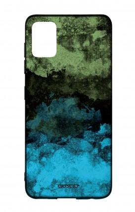 Cover Bicomponente Samsung A51 - Mineral BlackLime