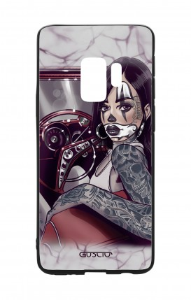 Samsung S9 WHT Two-Component Cover - Chicana Pin Up on her way