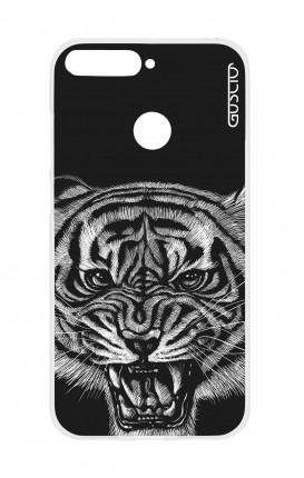 Cover TPU HUAWEI P SMART - Tigre nera