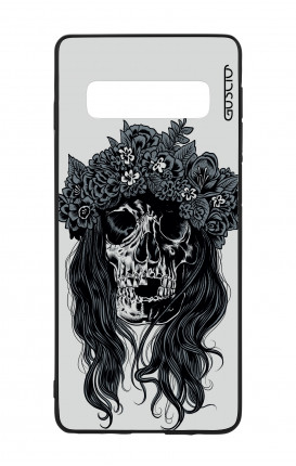 Samsung S10e Lite WHT Two-Component Cover - Skull with flowers