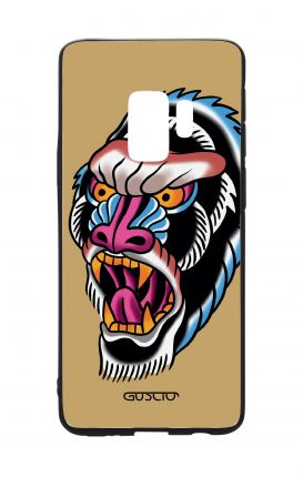 Samsung S9 WHT Two-Component Cover - Ape Tattoo on ochre