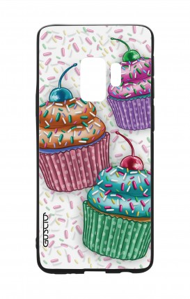 Samsung S9 WHT Two-Component Cover - Cupcakes