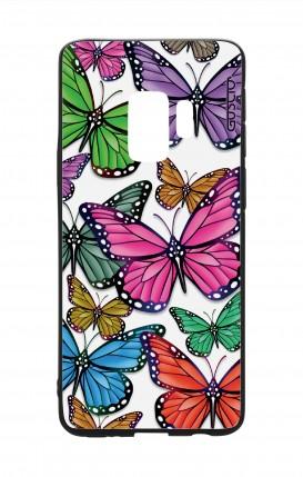 Cover Bicomponente Samsung S9 - Farfalle colorate Pattern