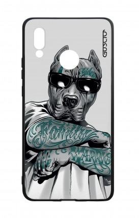 Cover Bicomponente Huawei P20Lite - Pitbull tatuato