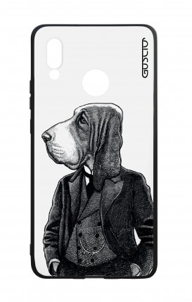 Huawei P20Lite WHT Two-Component Cover - Dog in waistcoat