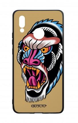 Cover Bicomponente Huawei P20Lite - Gorilla Tattoo su ocra