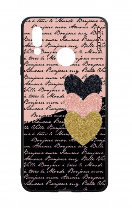 Huawei P20Lite WHT Two-Component Cover - Hearts on words